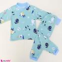 ست بلوز و شلوار گرم توکُرکی بچگانه سبز سگ Baby warm clothes set