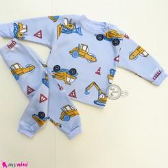 ست بلوز و شلوار گرم توکُرکی بچگانه طوسی راهسازی Baby warm clothes set