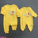 سرهمی نخ پنبه ای نوزاد و کودک زرد فیل Baby cotton sleepsuits