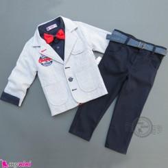 کت و شلوار بچگانه 5 تکه آبی سرمه ای مارک تریمکس ترکیه Trimex boy coat set