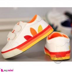 کفش اسپرت بچگانه آدیداس کلاسیک سفید نارنجی Baby shoes
