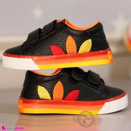 کفش اسپرت بچگانه آدیداس کلاسیک مشکی نارنجی Baby shoes