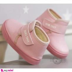 کفش ساقدار اسپرت داخل خز بچگانه صورتی نیکی تاینی Baby shoes