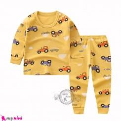 بلوز و شلوار نخی بچگانه وارداتی تراکتور گُلد Baby clothes set
