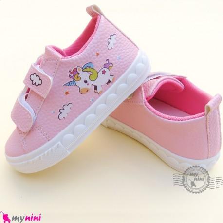 کفش اسپرت بچگانه یونی کورن صورتی Baby shoes