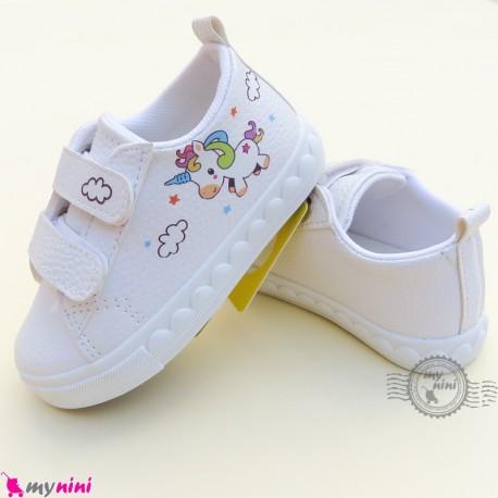 کفش اسپرت بچگانه یونی کورن سفید Baby shoes