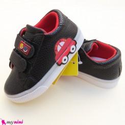 کفش اسپرت بچگانه ماشین مشکی قرمز Baby shoes