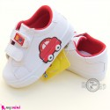 کفش اسپرت بچگانه ماشین سفید قرمز Baby shoes