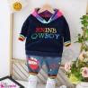 ست هودی و شلوار گرم خز 2 تکه سرمه ای رنگین کمان Baby warm clothes set