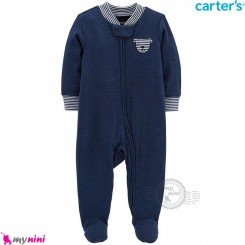 سرهمی گرم کارترز اورجینال سرمه ای خرس Carters baby fleece pajamas