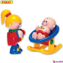خواهر و نوزاد اسباب بازی تولو TOLO Toys