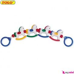 آویز کریر و کنار تخت نوزاد اسب تولو TOLO Toys