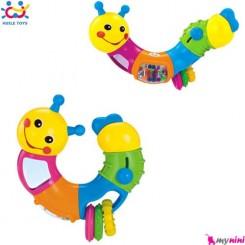 جغجغه و دندانگیر کِرم پیچشی اسباب بازی Huile Toys Rattles