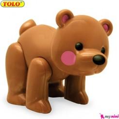 خرس قهوه ای اسباب بازی تولو TOLO toys first friends