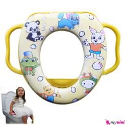 تبدیل توالت فرنگی کودک زرد قورباغه Baby toilet trainer