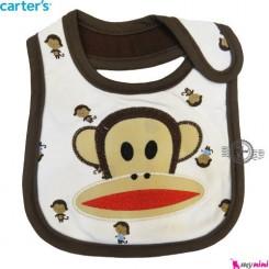 پیشبند سیسمونی نوزاد کارترز نخی میمون سه لایه CARTER'S BABY BIBS