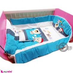 محافظ دور تخت بچه تترون فیروزه ای خرس باهوش Protective beds for children