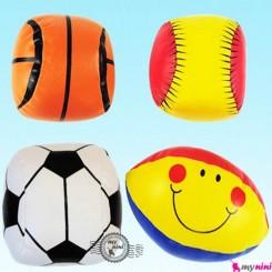 توپ اسفنجی چهار عددی نوزاد و کودک سایز متوسط Baby soft balls toys