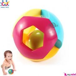 توپ زنگوله ای هویلی تویز آموزشی Huile Toys intellectual bell ball