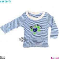 بلوز کارترز آبی لاکپشت carter's long sleeve t shirts