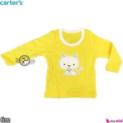 بلوز کارترز زرد گربه carter's long sleeve t shirts