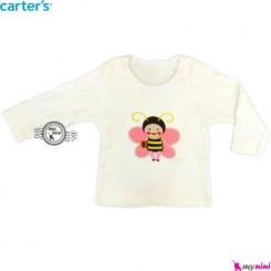 بلوز کارترز شیری زنبور carter's long sleeve t shirts