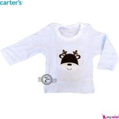 لباس کارترز آبی گوزن carter's long sleeve t shirts