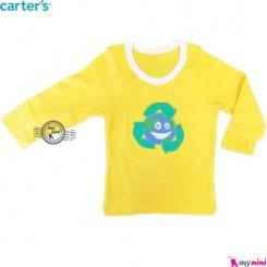 لباس کارترز زرد کره زمین carter's long sleeve t shirts