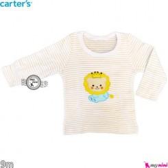 لباس کارترز آستین بلند شیر 9 ماه carter's long sleeve t shirts