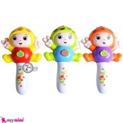 آدمک میوه ای جغجغه ای موزیکال و چراغدار Baby rattles and flash toy's