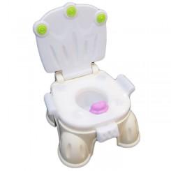 توالت فرنگی سیسمونی 3 کاره کِرِمی بهمراه تبدیل توالت فرنگی تاتیا Tatia potty