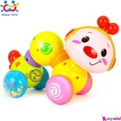 کرم دوست داشتنی هویلی تویز موزیکال سایز بزرگ Huile Toys lovely musical worm