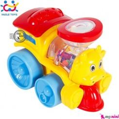 قطار جغجغه ای هویلی تویز قدرتی Huile Toys shining cartoon train