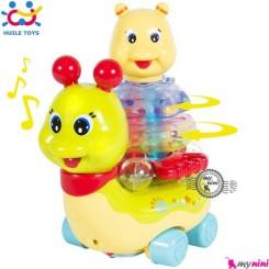 حلزون موزیکال هویلی تویز جغجغه ای Huile Toys musical snail