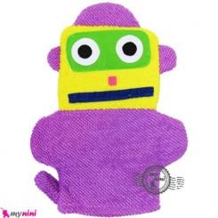 لیف عروسکی کودک ربات یاسی Baby cartoon bath fiber
