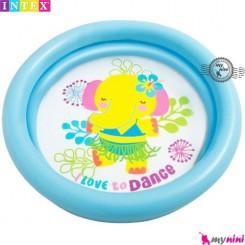 وان بادی کودک اینتکس آبی فیل Intex baby pool