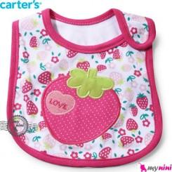 پیشبند کارترز پنبه ای توت فرنگی Carters baby cotton bib