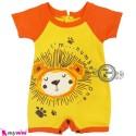 سرهمی شورتی زرد خرس تایلندی Baby Rompers
