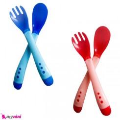 قاشق و چنگال حرارتی فلاور بی بی Infant Spoon