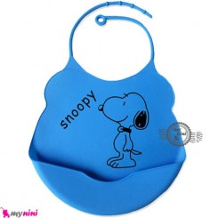 پیشبند سیلیکونی کاسه ای آبی لاجوردی سگ Baby silicone bib