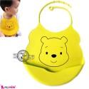پیشبند سیلیکونی کاسه ای زرد خرس Baby silicone bib