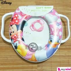تبدیل توالت فرنگی کودک میکی موس دختر Disney soft baby potty seat