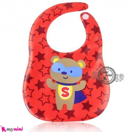 پیشبند ضد لک خرس سوپرمن Baby cartoon waterproof bibs