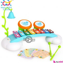 بلز آموزشی هویلی تویز Huile Toys enlightening rainbow 8 sounds organ