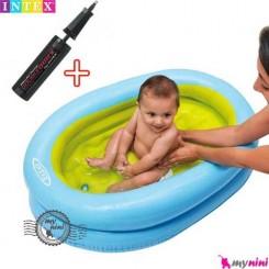 وان حمام شیبدار نوزاد و کودک بادی اینتکس Intex Baby bath Tub Set