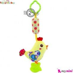عروسک دندانگیر دار و صدادار هپی مانکی جوجه Happy Monkey Baby Plush Toys
