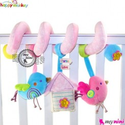 عروسک آویز پولیشی موزیکال پرنده هپی مانکی Happy monkey toys