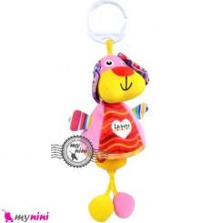 عروسک نوزاد و کودک صدادار پولیشی سگ LH Baby Plush Toys سیسمونی
