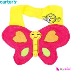 پیشبند عروسکی نوزاد کارترز پروانه Carter's teething bibs