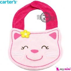 پیشبند عروسکی کارترز گربه صورتی Carter's teething bibs